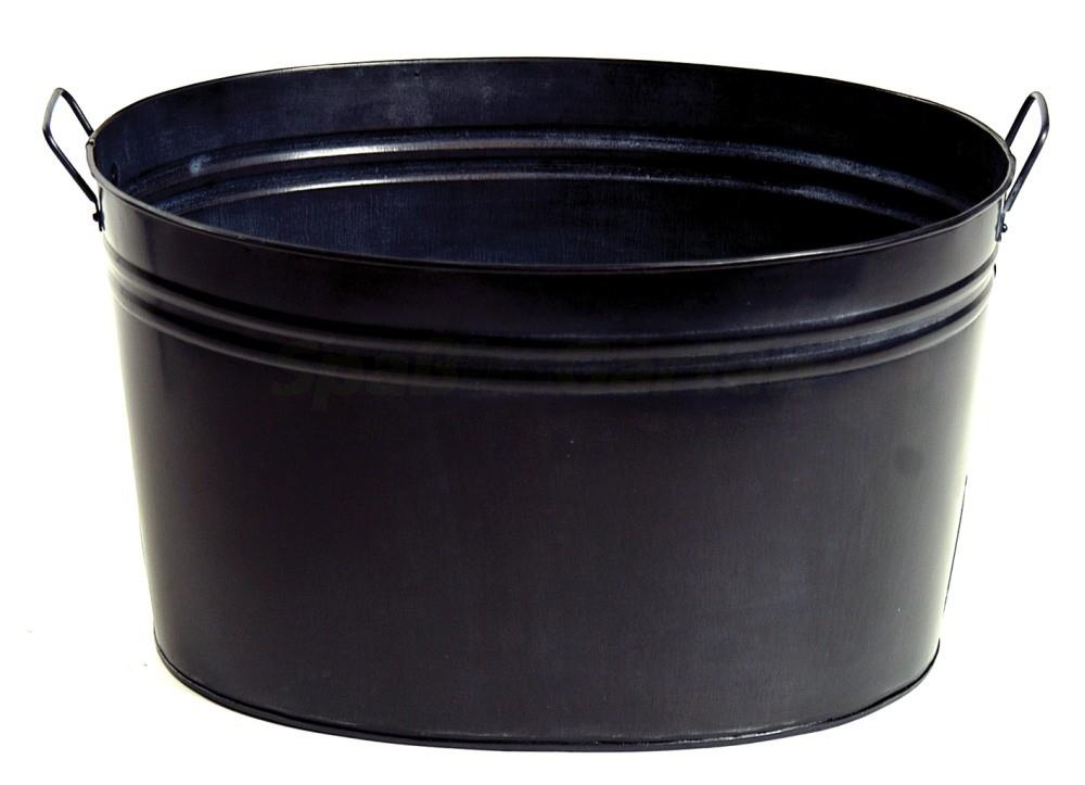 zinkwanne oval schwarz l40 x b30 x h23 cm. Black Bedroom Furniture Sets. Home Design Ideas