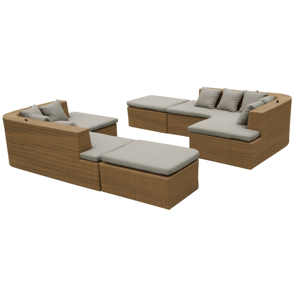 lounge set gartenm bel set aus polyrattan wetterfest. Black Bedroom Furniture Sets. Home Design Ideas