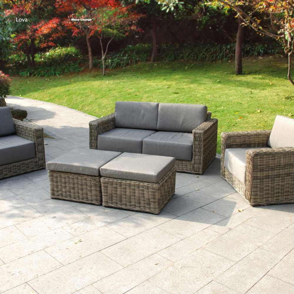 lounge set gartenm bel set lova aus polyrattan wetterfest und uv best ndig ebay. Black Bedroom Furniture Sets. Home Design Ideas
