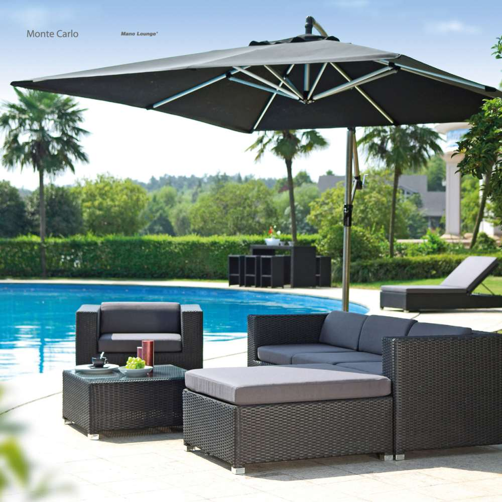 lounge set gartenm bel monte carlo aus polyrattan wetterfest und uv best ndig ebay. Black Bedroom Furniture Sets. Home Design Ideas